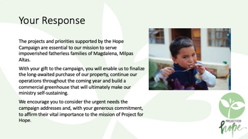 Project for Hope PowerPoint slide 20