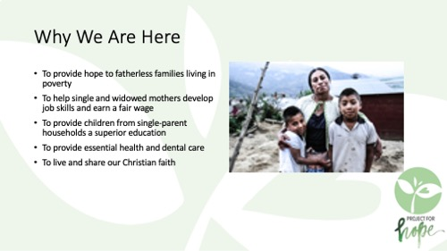 Project for Hope PowerPoint slide 5