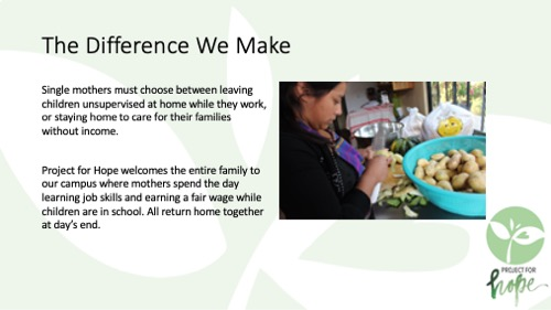 Project for Hope PowerPoint slide 9
