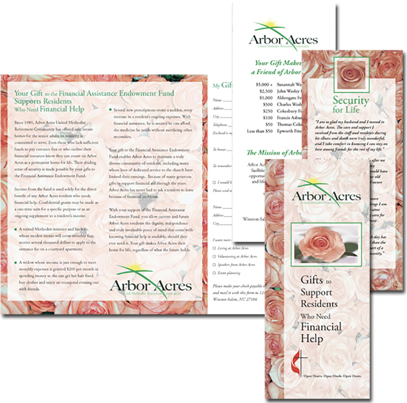 Arbor Acres financial aid brochure