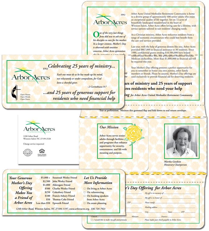 Arbor Acres Mother's Day offering brochure