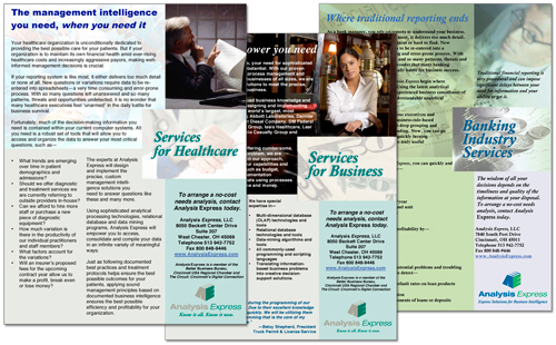 Analysis Express services flyers