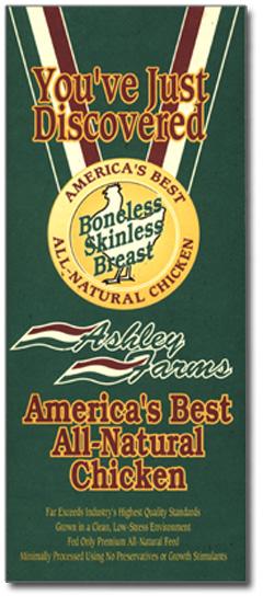 Ashley Farms chicken brochure