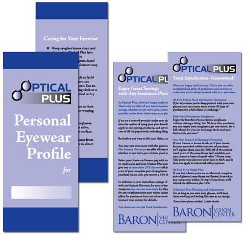 Baron Vision Center Optical Plus folder