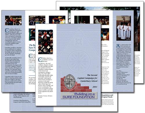 Canterbury School Building on a Sure Foundation campaign case statement brochure