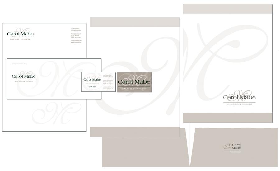 Carol Mabe's stationery designs