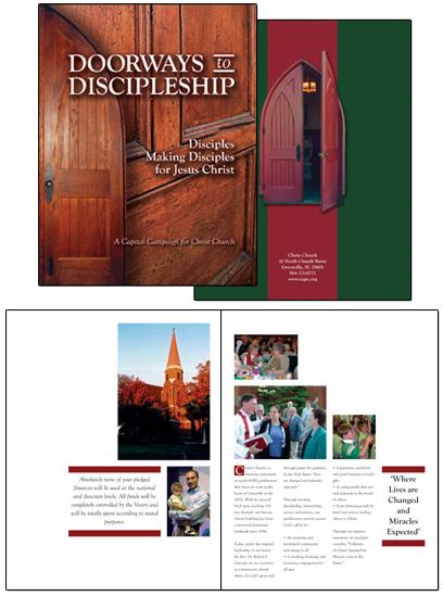 Christ Church Doorways to Discipleship campaign case statement brochure