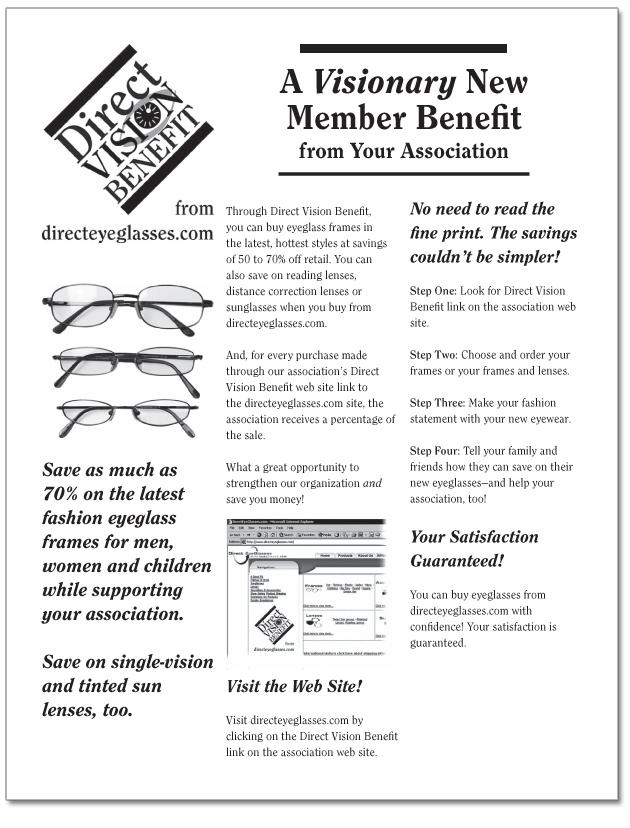 Direct Vision Benefit flyer