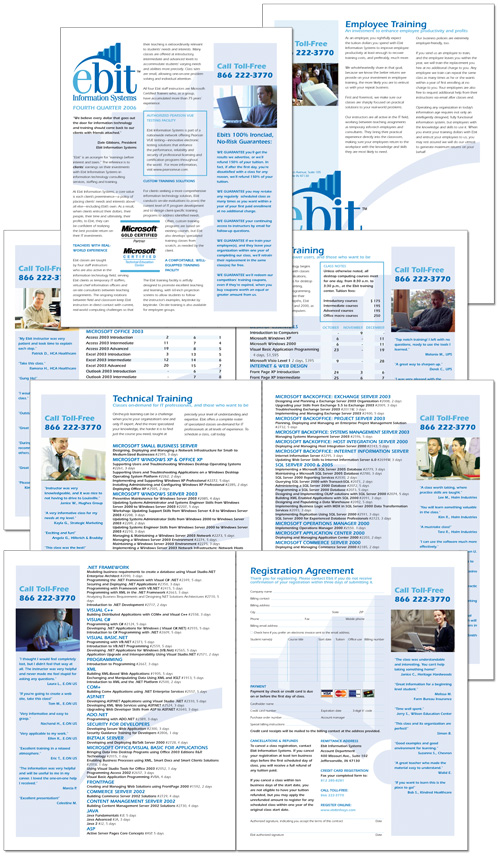 Ebit Information Systems course catalog