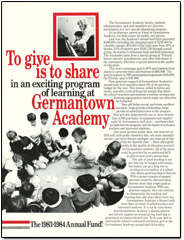 Germantown Academy annual giving solicitation flyer
