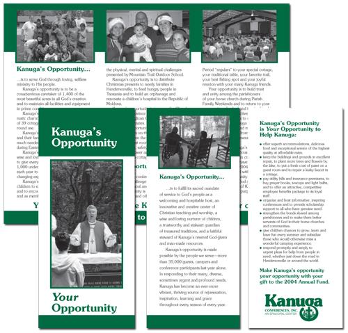 Kanuga Conferences, Inc., annual giving solicitation brochure