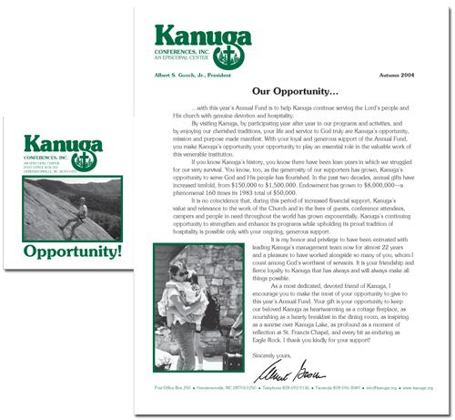 Kanuga Conferences, Inc., annual giving solicitation letter