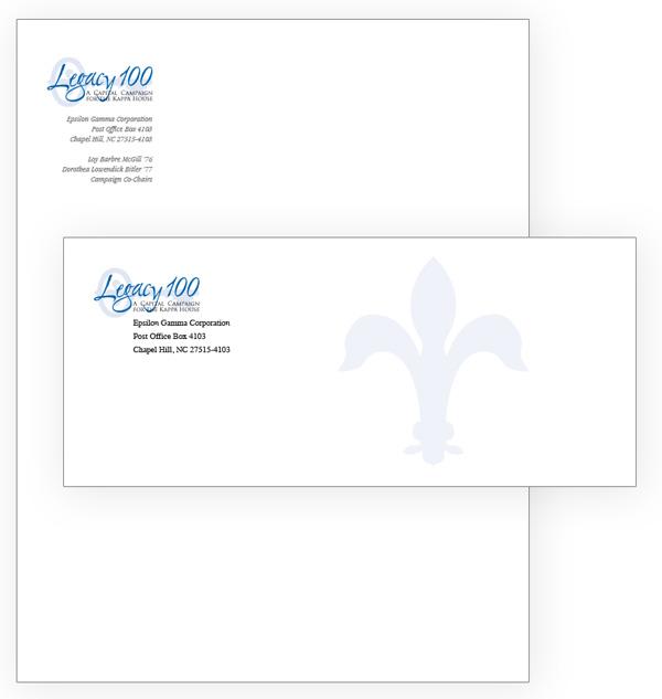Kappa Legacy 100 campaign letterhead