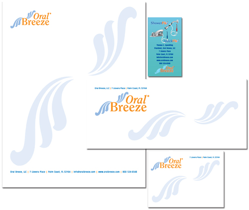 Logo and stationery design for Oral Breeze
