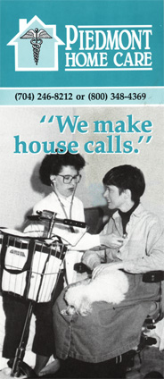 Piedmont Home Care brochure