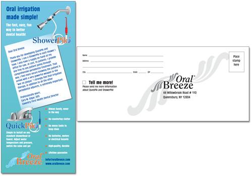 Rack card for Oral Breeze ShowerPik and QuickPik
