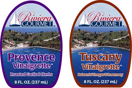 Riviera Gourmet salad dressing labels