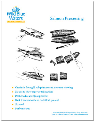 Wild Blue Waters Salmon Processing flyer
