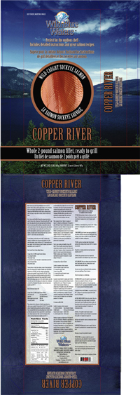 Wild Blue Waters Copper River salmon package