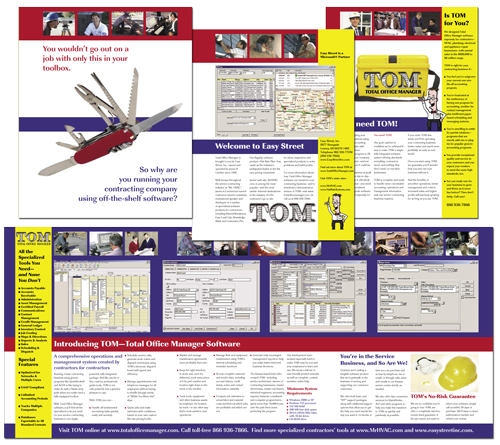Easy Street's Total Office Manager brochure
