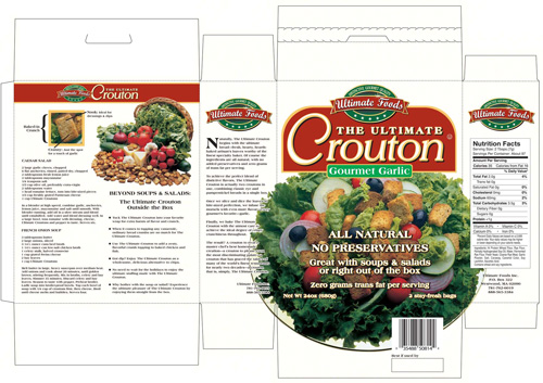 Ultimate Foods Ultimate Crouton package