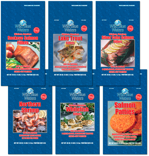 Wild Blue Waters seafood pouches