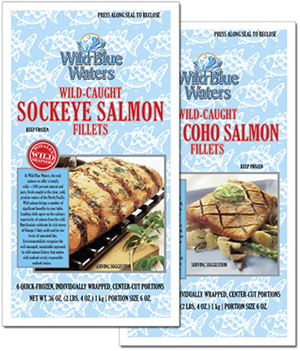 Wild Blue Waters salmon pouches