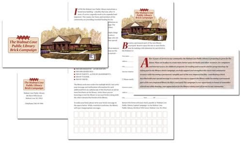 Walnut Cove Public Library campaign brochure